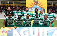 IPIALES - COLOMBIA, 27-02-2019: Los jugadores de La Equidad, posan para una foto, antes de partido entre Deportivo Pasto y La Equidad, de la fecha 7 por la Liga Aguila I 2019, jugado en el estadio Municipal de Ipiales de la ciudad de Ipiales /  Boyaca Chico F. C., pose for a photo, prior a match between Deportivo Pasto and La Equidad, of the 7th date for the Aguila Leguaje I 2019 at the Municipal de Ipiales stadium in Ipiales city. Photo: VizzorImage. / Leonardo Castro / Cont.