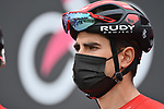 Mikel Landa (ESP) Bahrain Victorious at sign on before the start of Stage 2 of the 2021 Giro d'Italia, running 179km from Stupinigi (Nichelino) to Novara, Italy. 9th May 2021.  <br /> Picture: LaPresse/Massimo Paolone | Cyclefile<br /> <br /> All photos usage must carry mandatory copyright credit (© Cyclefile | LaPresse/Massimo Paolone)