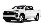 Stock pictures of low aggressive front three quarter view of 2019 Chevrolet Silverado-1500 LT 4 Door Pick-up Low Aggressive