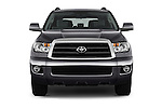 Car photography straight front view of a 2017 Toyota Sequoia SR5 5 Door SUV Front View