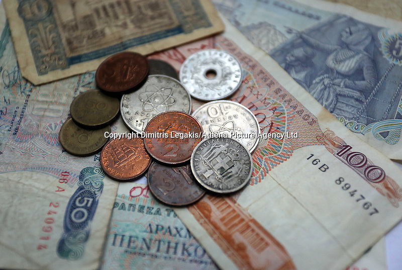 A mixture of old drachma coins and paper notes<br /> Re: The forthcoming elections in Greece has severely de-stabilised the currency and stock markets in Europe and the rest of the world.