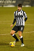 10th February 2021; St Mirren Park, Paisley, Renfrewshire, Scotland; Scottish Premiership Football, St Mirren versus Celtic; Ryan Flynn of St Mirren on the ball