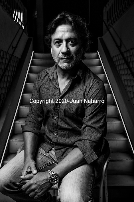 MADRID, SPAIN -JULY 22: Spanish actor Enrique Arce poses for a portrait session during 'Amor En Polvo' presentation at Sala Equis on July 16, 2020 in Madrid. (Photo by Juan Naharro Gimenez)