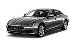 2018 Maserati Quattroporte S 4 Door Sedan angular front stock photos of front three quarter view