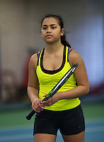 Rotterdam, The Netherlands, March 19, 2016,  TV Victoria, NOJK 14/18 years, Flore Hullegie (NED)<br /> Photo: Tennisimages/Henk Koster