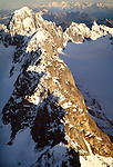 Aerial landscape of the Alaska Range, Alaska, USA