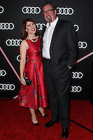LOS ANGELES, CA - JANUARY 09: Kate Flannery, Chris Haston at the Audi Golden Globe Awards 2014 Cocktail Party held at Cecconi's Restaurant on January 9, 2014 in Los Angeles, California. (Photo by Xavier Collin/Celebrity Monitor)
