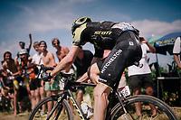Damien Howson (AUS/Mitchelton-Scott) on pavé sector #2<br /> <br /> Stage 9: Arras Citadelle > Roubaix (154km)<br /> <br /> 105th Tour de France 2018<br /> ©kramon