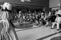 MONTREAL, CANADA - File Photo - People in a shopping Mall watch traditionnal folkloric danses, June 30, 1973.<br /> <br /> File Photo : Agence Quebec Presse - Alain Renaud