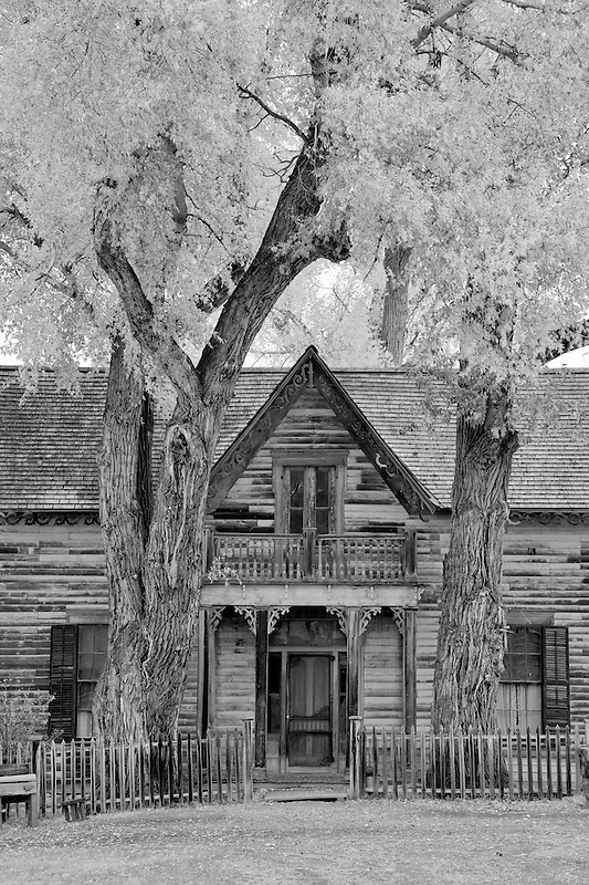 Front of old historic house. Nevada City, Montana