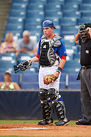 TJ Collett (34) of Terre Haute North Vigo High School in Terre Haute, Indiana playing for the Chicago Cubs scout team during the East Coast Pro Showcase on July 29, 2015 at George M. Steinbrenner Field in Tampa, Florida.  (Mike Janes/Four Seam Images)