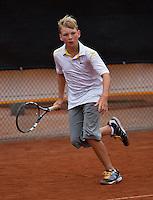 07-08-13, Netherlands, Rotterdam,  TV Victoria, Tennis, NJK 2013, National Junior Tennis Championships 2013, Joost van der Linden<br /> <br /> <br /> Photo: Henk Koster