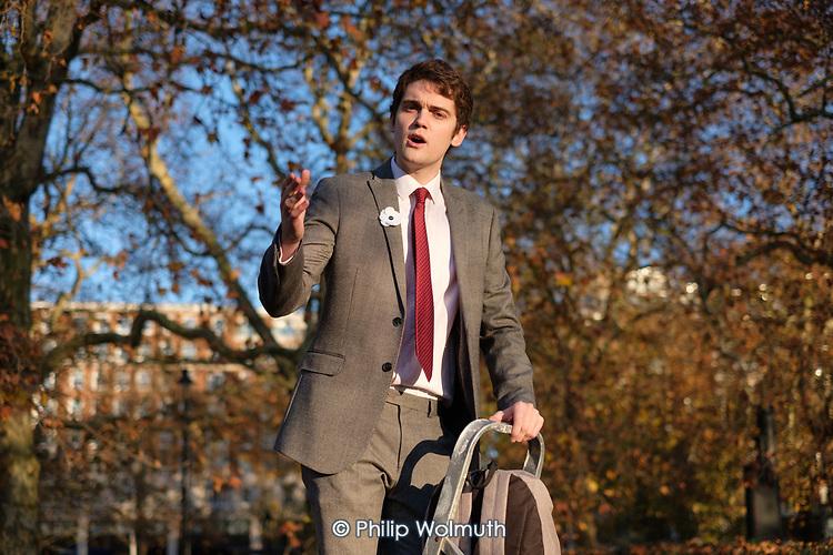 Kyle argues in defence of Julian Assange, Speakers' Corner, Hyde Park, London.