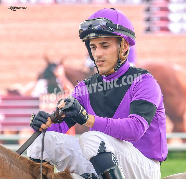 Jevian Toledo aboard Kinda Lucky winning at Delaware Park on 10/4/21