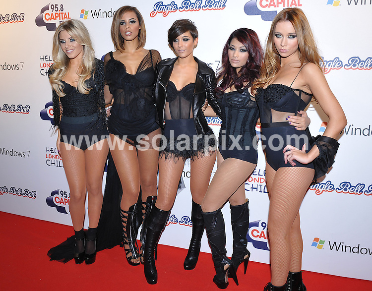 **ALL ROUND PICTURES FROM SOLARPIX.COM**.**WORLDWIDE SYNDICATION RIGHTS**.Press room at the Jinglebell Ball 2009.  Held at the O2 Arena, Greenwich Peninsula.This pic:   The Saturdays.JOB REF:   10346   SSD     DATE:  05.12.09.**MUST CREDIT SOLARPIX.COM OR DOUBLE FEE WILL BE CHARGED**.**MUST NOTIFY SOLARPIX OF ONLINE USAGE**.**CALL US ON: +34 952 811 768 or LOW RATE FROM UK 0844 617 7637**