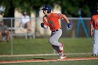 Alex Ulloa (12) during the WWBA World Championship at Terry Park on October 9, 2020 in Fort Myers, Florida.  Alex Ulloa, a resident of Cutler Bay, Florida who attends Calvary Christian Academy, is committed to Oklahoma State.  (Mike Janes/Four Seam Images)