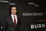 "Adam Driver attends the Broadway Opening Celebration for Landford Wilson's ""Burn This""  at Hudson Theatre on April 15, 2019 in New York City."