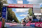 Mauro Schmid (SUI) Team Qhubeka Assos wins Stage 11 of the 2021 Giro d'Italia, running 162km from Perugia to Montalcino, (Brunello di Montalcino Wine Stage), Italy. 19th May 2021.  <br /> Picture: LaPresse/Gian Mattia D'Alberto | Cyclefile<br /> <br /> All photos usage must carry mandatory copyright credit (© Cyclefile | LaPresse/Gian Mattia D'Alberto)