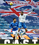 13.02.2021 Rangers v Kilmarnock: Nicke Kabamba and Connor Goldson