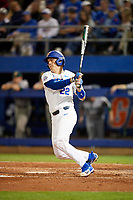 Florida Gators catcher JJ Schwarz (22) at bat during a game against the Siena Saints on February 16, 2018 at Alfred A. McKethan Stadium in Gainesville, Florida.  Florida defeated Siena 7-1.  (Mike Janes/Four Seam Images)