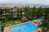 RWANDA, Kigali, Swimming Pool of Hotel Mille des Collines, film location for the movie Hotel Rwanda about the genocide in 1994