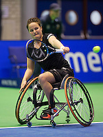 Rotterdam,Netherlands, December 17, 2015,  Topsport Centrum, Lotto NK Tennis, Wheelchair Tennis, Aniek van Koot (NED)<br /> Photo: Tennisimages/Henk Koster