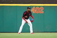 Rochester Red Wings outfielder Victor Robles (15) during a game against the Worcester Red Sox on September 4, 2021 at Frontier Field in Rochester, New York.  (Mike Janes/Four Seam Images)