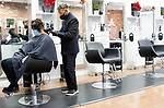 MIDDLEBURY CT. - 15 January 2020-011521SV05-Bob Accutera works on coloring a client's hair at Aviara Salon in Middlebury Friday.<br /> Steven Valenti Republican-American