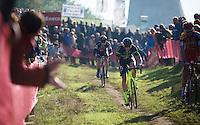 Sven Nys (BEL/Crelan-AAdrinks) at the front<br /> <br /> Elite Men's race<br /> bpost bank trofee<br /> GP Mario De Clercq Ronse 2015