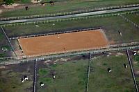 aerial photograph of a horse farm near Celina in Collin County, Texas