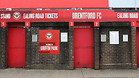 General view of the Ealing Road turnstiles from outside the ground during Brentford vs Wigan Athletic, Sky Bet EFL Championship Football at Griffin Park on 4th July 2020