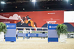 The setup of the Longines Masters of Hong Kong on 10 February 2017 at the Asia World Expo in Hong Kong, China. Photo by Victor Fraile / Power Sport Images
