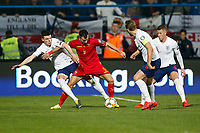 Declan Rice of England and Stefan Mugosa of Montenegro  <br /> Podgorica 25-3-2019 <br /> Football Euro2020 Qualification Montenegro - England <br /> Foto Daniel Chesterton / PHC / Insidefoto <br /> ITALY ONLY