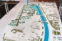Maquette de la plaine de la Vilaine a l'est de Rennes