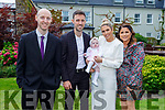The christening party of Bronagh Bailey from Tralee in the Ballygarry House Hotel on Sunday. Standing l to r: Jim (GF), dad Paudie, baby Bronagh and mom Jennifer Bailey and Noelle Hegarty (GM)
