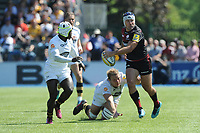 Schalk Brits of Saracens breaks loose from Joe Launchbury of Wasps as Christian Wade of Wasps supports during the Aviva Premiership Rugby semi final match between Saracens and Wasps at Allianz Park on Saturday 19th May 2018 (Photo by Rob Munro/Stewart Communications)