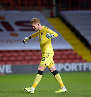 4th May 2021; The Valley, London, England; English Football League One Football, Charlton Athletic versus Lincoln City; Ben Amos celebrates the 3rd Charlton goal in the 66th minute by Aneke