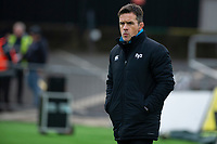 Head Coach Allen Clarke of Ospreys in action during the Guinness Pro14 round 12 match between the Dragons and the Ospreys at Rodney Parade in Newport, Wales, UK. Sunday 30 December 2018