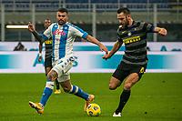 inter-napoli - milano 16 dicembre 2020 - Campionato Serie A 12° giornata - nella foto: de vrij e petagna