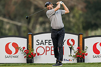 11th September 2020, Napa, California, USA;  Bud Cauley of the United States tees off during the second round of the Safeway Open PGA tournament on September 11, 2020 at Silverado Country Club in Napa, CA.