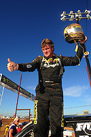 Apr 16, 2011; Surprise, AZ USA; LOORRS driver Rob MacCachren (1) celebrates after winning round 3 at Speedworld Off Road Park. Mandatory Credit: Mark J. Rebilas-