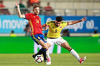 Spain's Asier Illarramendi (l) and Colombia's Radamel Falcao during international friendly match. June 7,2017.(ALTERPHOTOS/Acero) (NortePhoto.com) (NortePhoto.com)