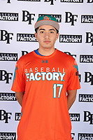 Christian Garcia (17) of Analy High School in Sebastopol, California during the Baseball Factory All-America Pre-Season Tournament, powered by Under Armour, on January 12, 2018 at Sloan Park Complex in Mesa, Arizona.  (Mike Janes/Four Seam Images)