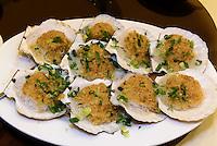 Jakobsmuscheln, Restaurant in Kowloon, Hongkong, China<br /> scallops, Restaurant in Kowloon, Hongkong, China