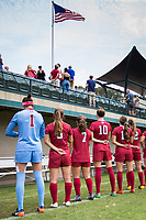 STANFORD, CA - September 3, 2017: Team at Cagan Stadium. Stanford defeated Navy 7-0.