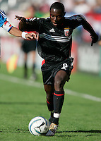 D.C. United's Freddy Adu carries the ball during a 3-2 victory over the Kansas City Wizards at the MLS Cup, at the Home Depot Center, in Carson, Calif., Sunday, Oct. 14, 2004.