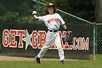 Matt Rosace makes a throw from center field during the Brick, New Jersey v Tampa, Florida game at the 2009 Cal Ripken World Series
