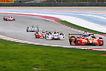 Michal Chlumecky (30), Ansa Motorsports driver, Darryl Shoff (94), Comprent Motorsports driver, Jon Brownson (34), Eurosport Racing driver and Don Yount (28), Yount Racing driver in action during the ALMS/WEC practice sessions at the Circuit of the Americas race track in Austin,Texas.