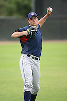 March 20th 2008:  TJ McFarland of the Cleveland Indians minor league system during Spring Training at Chain of Lakes Training Complex in Winter Haven, FL.  Photo by:  Mike Janes/Four Seam Images