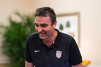 Orlando, FL - Friday Oct. 14, 2016:   Lead instructor Vanni Sartini during a US Soccer Coaching Clinic in Orlando, Florida.
